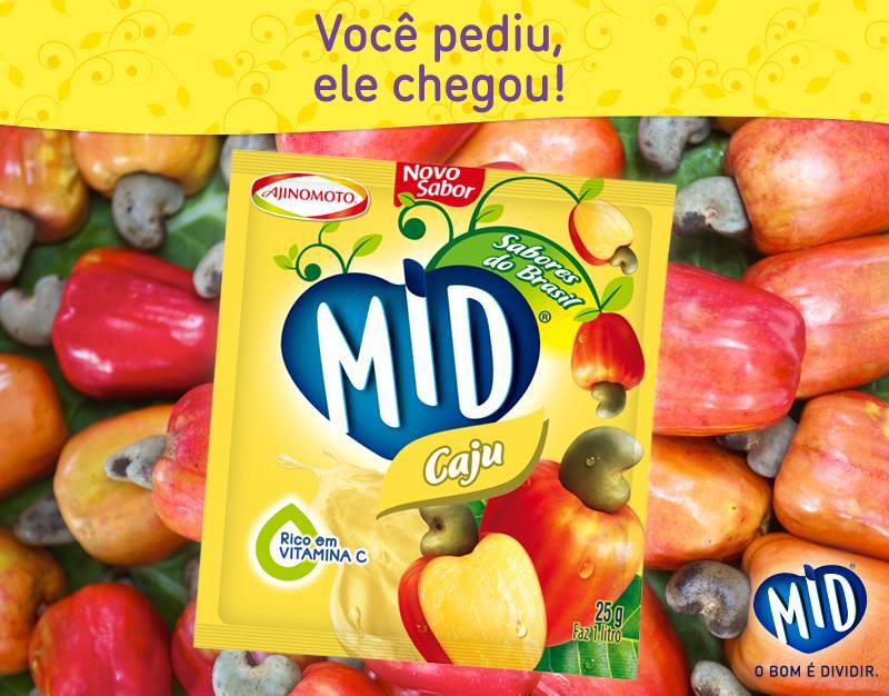 MID 3 novos sabores